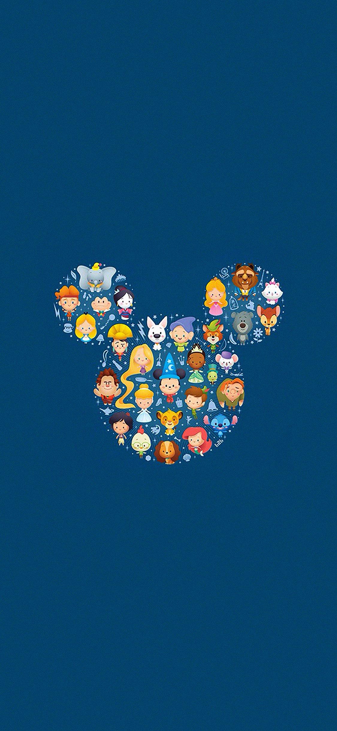 Disney art character cute iPhone X wallpaper