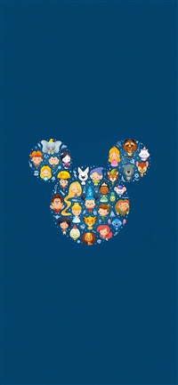 Disney art character cute iPhone X wallpaper