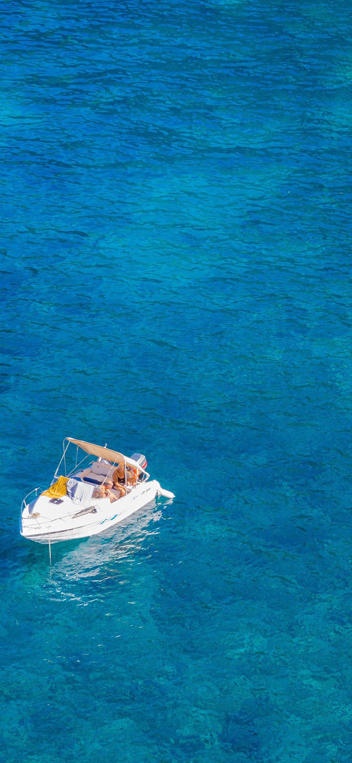 Sea wave ocean blue summer iPhone X wallpaper