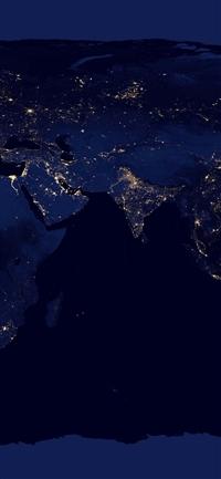 Worldmap blue dark earth view art iPhone X wallpaper