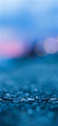 Bokeh street blue night iPhone X wallpaper