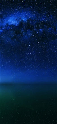 Cosmos night live lake space starry iPhone X wallpaper