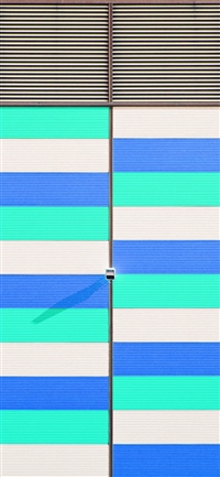 Green blue purple pattern city iPhone X wallpaper