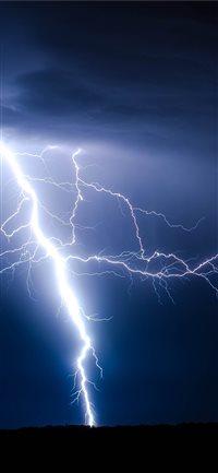 Lightning-Ground-Storm iPhone X wallpaper
