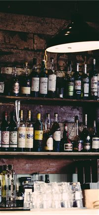 bottle iPhone X wallpaper