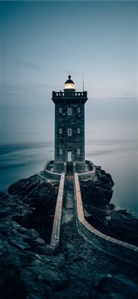 Lighthouse-in-the-Brittany--France iPhone X wallpaper