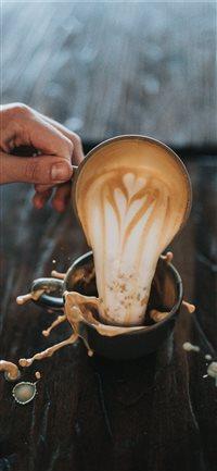 cappuccino iPhone X wallpaper
