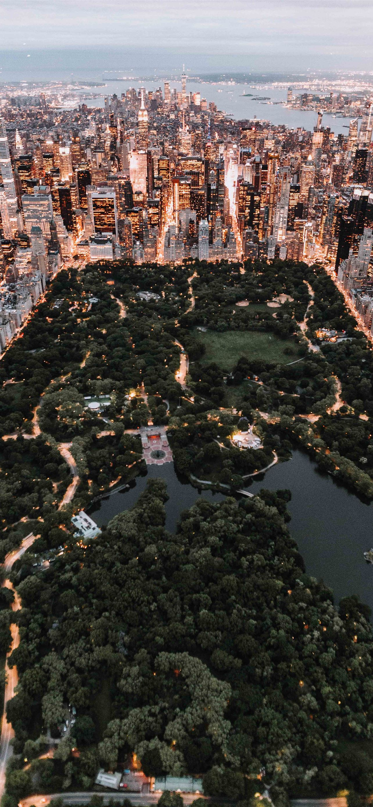 Central Park From Above New York City Iphone X Wallpaper Download
