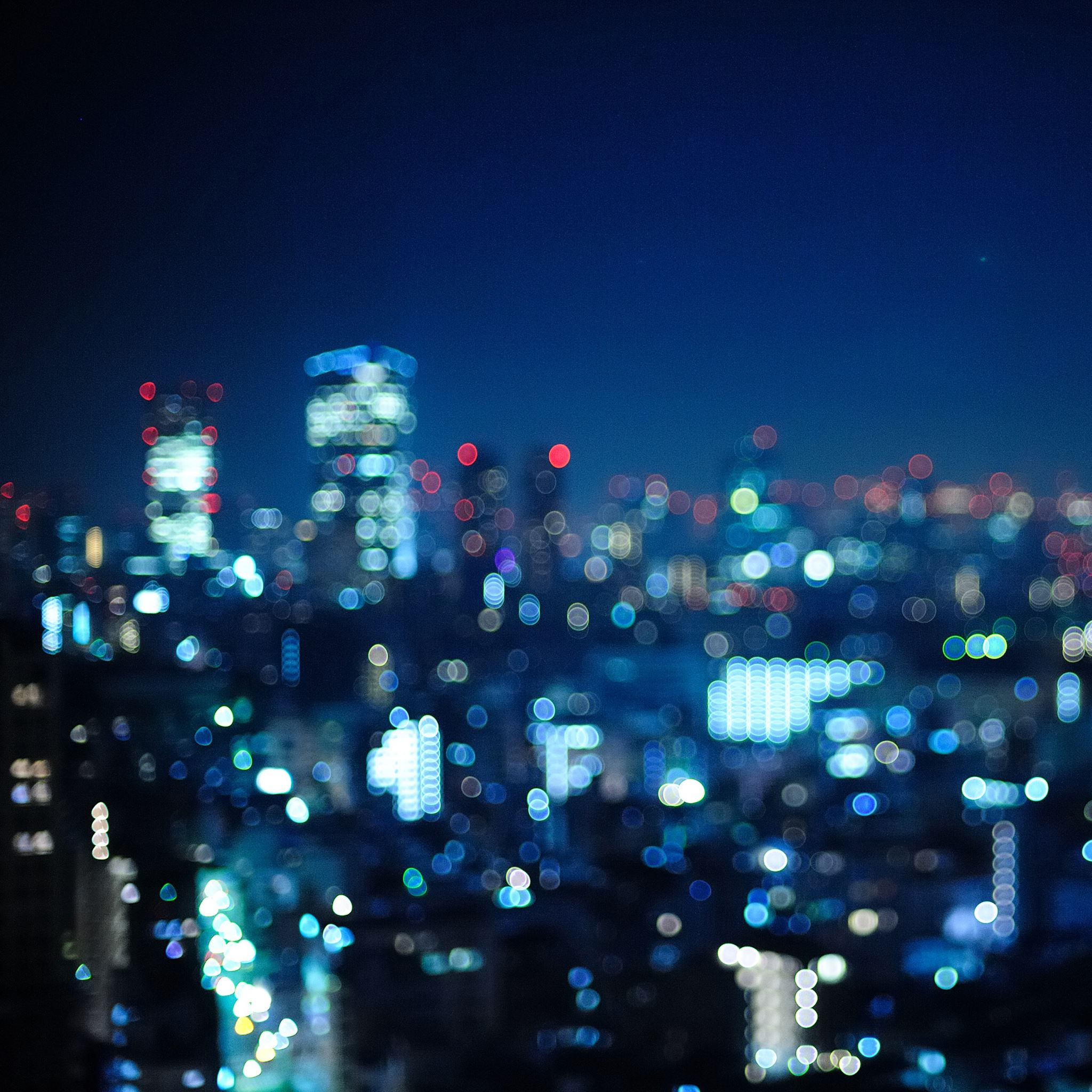 Tokyo Japan bokeh city iPad Air wallpaper