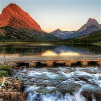 The Glacier National Park At Sunrise iPad Air wallpaper