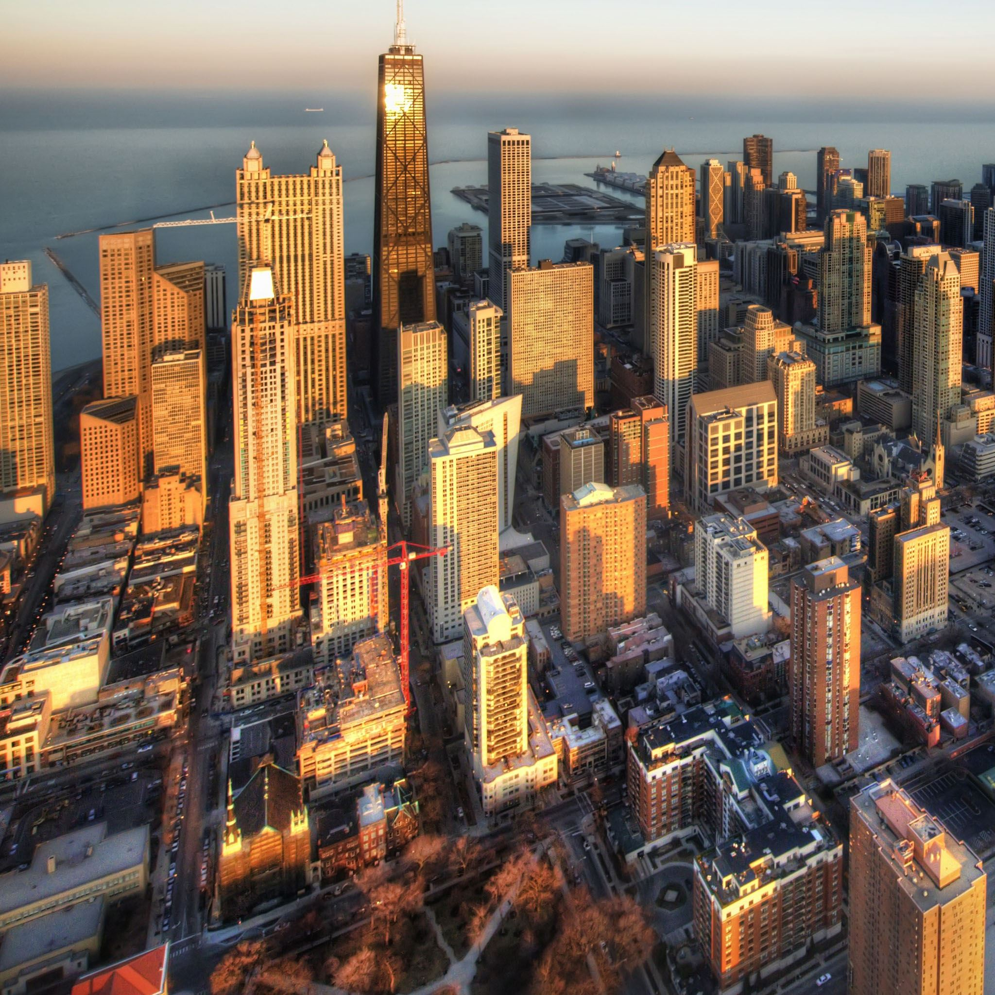Chicago aerial view iPad Air wallpaper