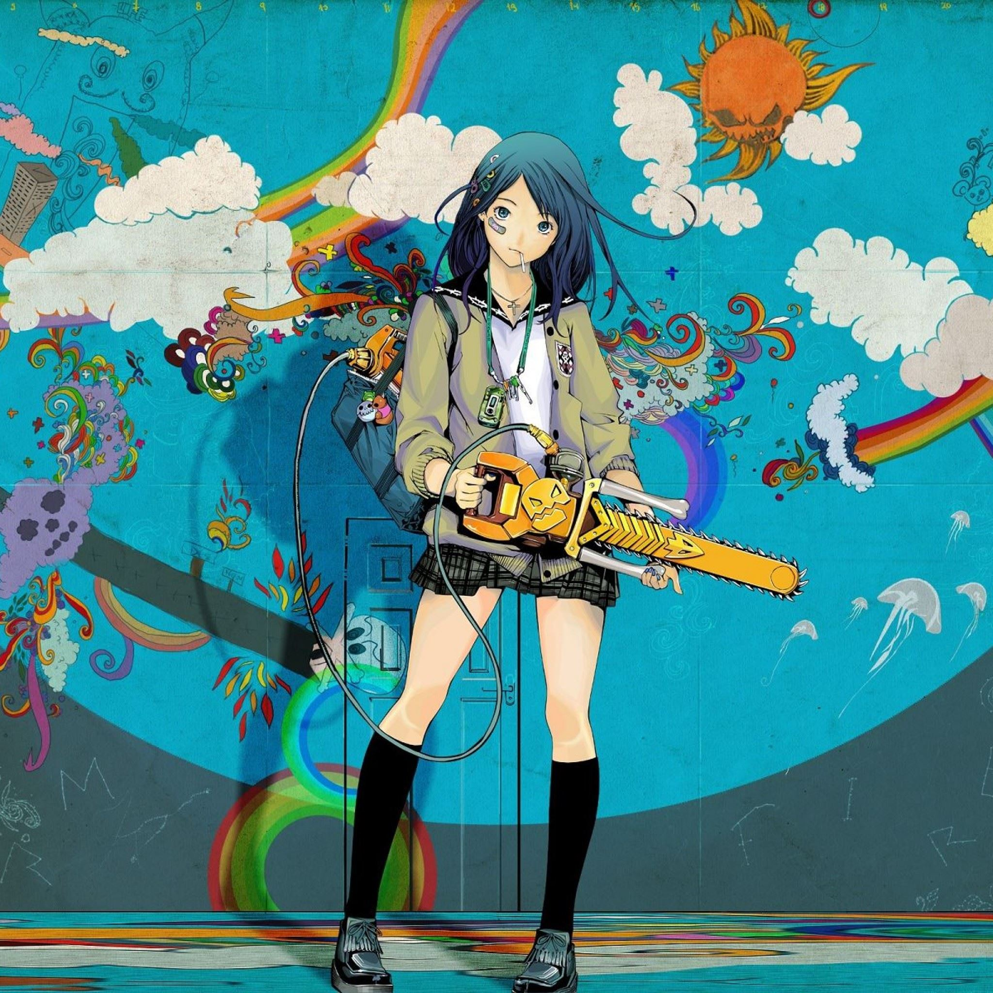 Girl Rocks IPad Air Wallpaper Download