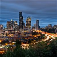 Downtown seattle iPad Air wallpaper