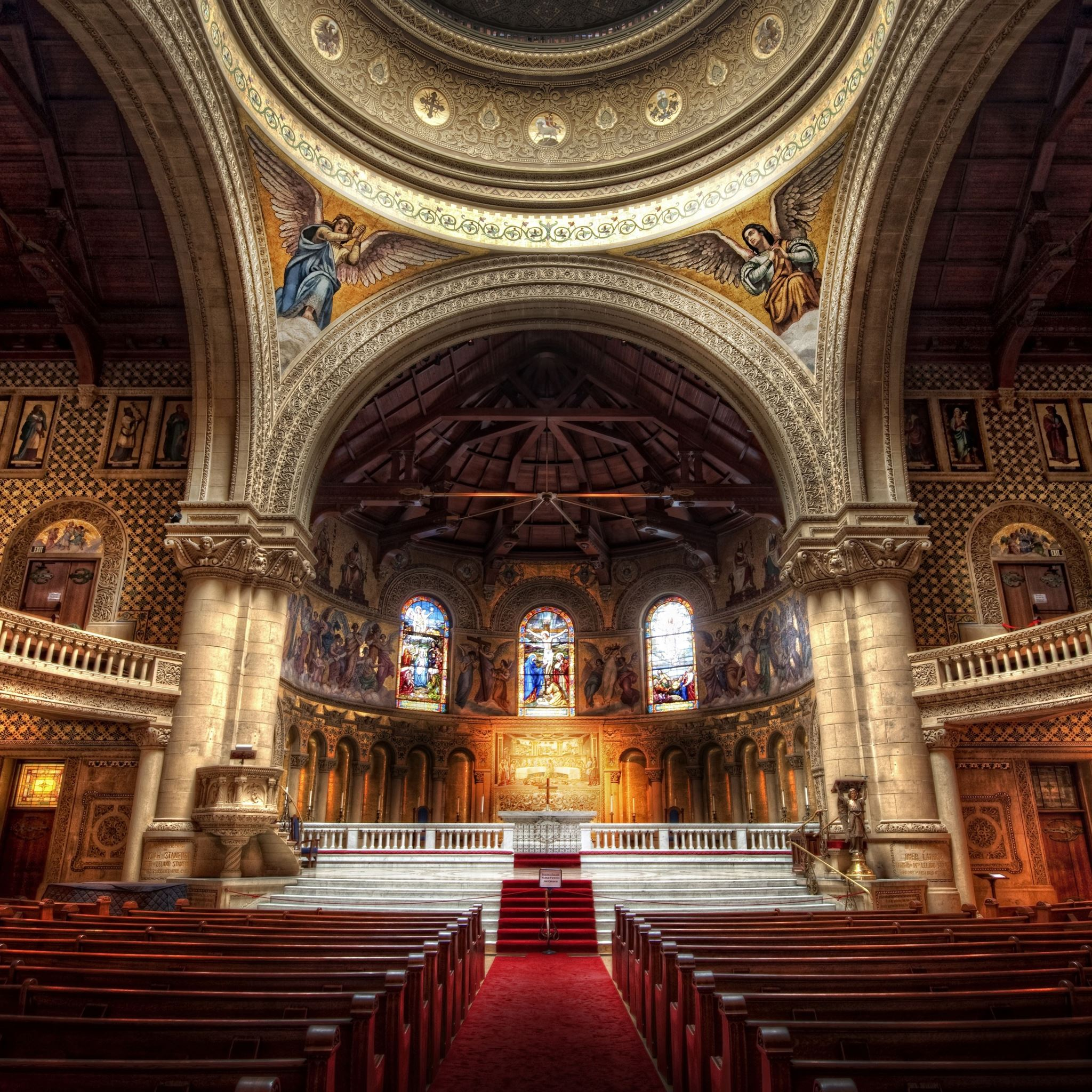 Church in Stanford iPad Air wallpaper