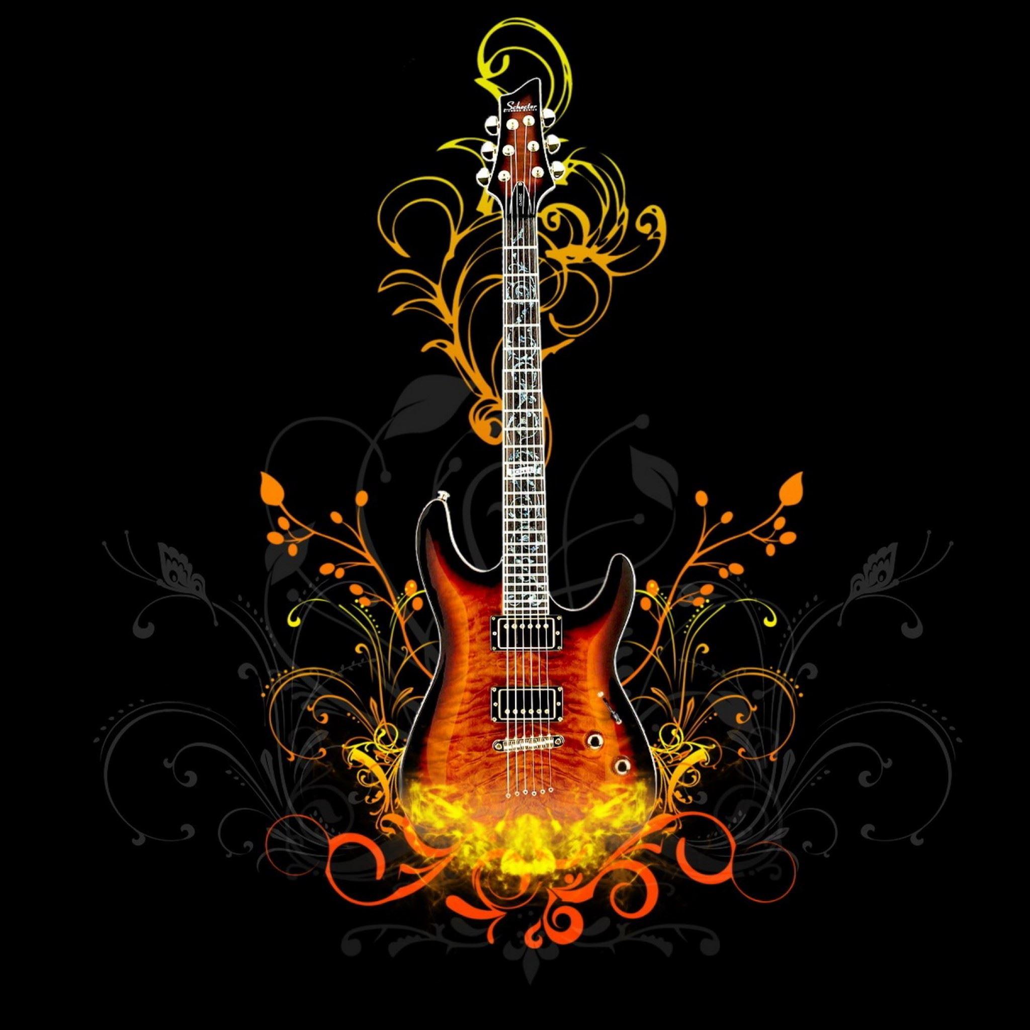 Guitar Abstract Ipad Air Wallpapers Free Download