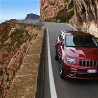 2012 Jeep Grand Cherokee Srt8 Road iPad wallpaper