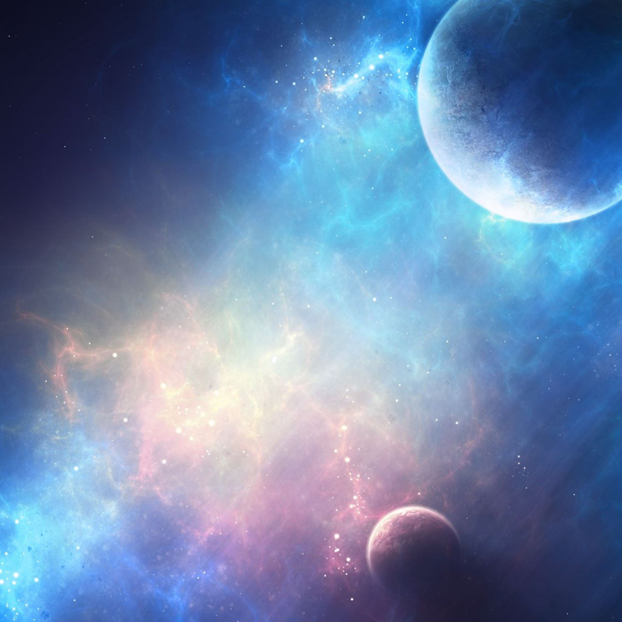 Planet Light iPad Air wallpaper