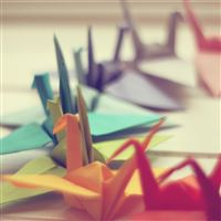 Colorful Origami iPad Air wallpaper