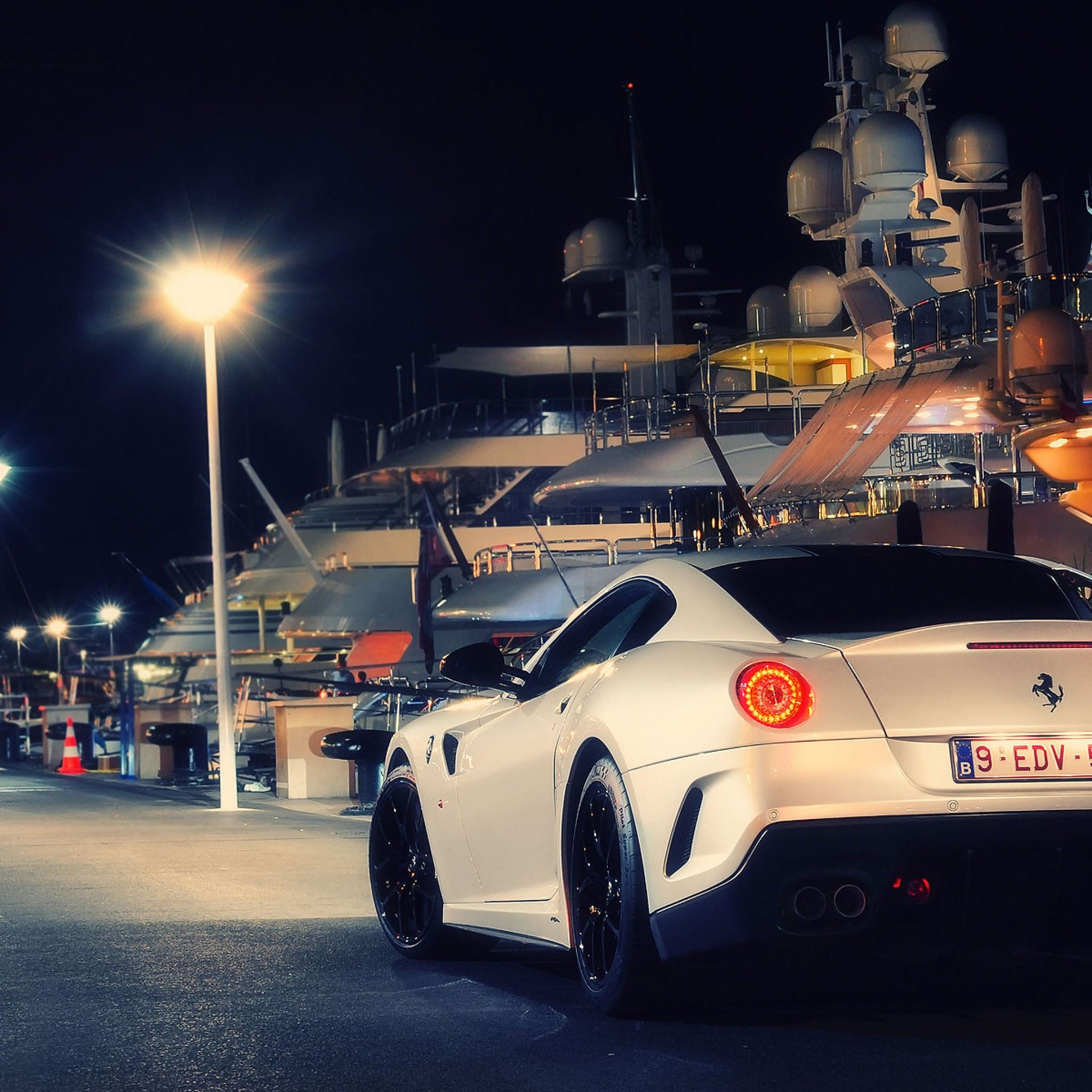 Ferrari 599 GTO White Night IPad Air Wallpaper Download