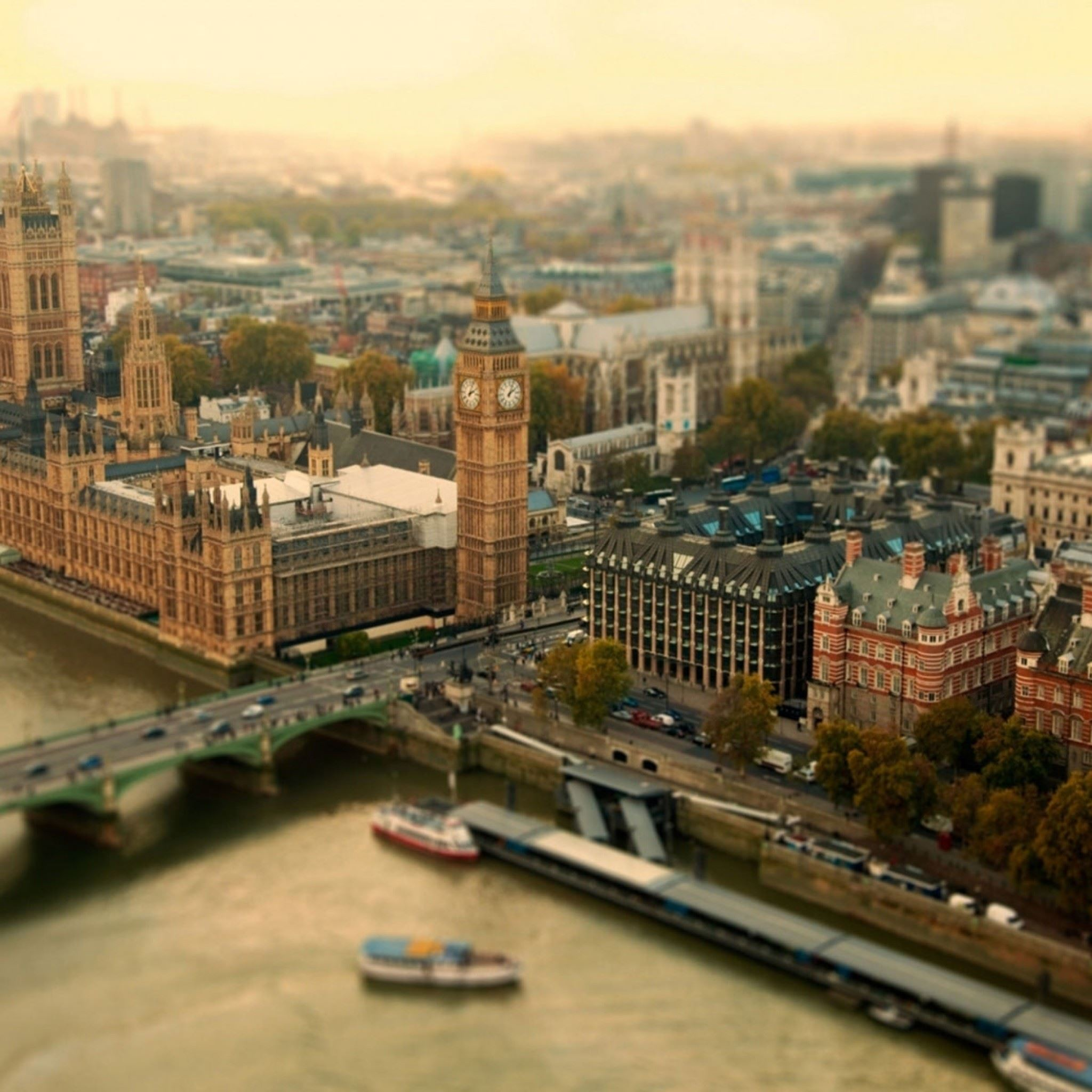 London UK Bokeh iPad Air wallpaper