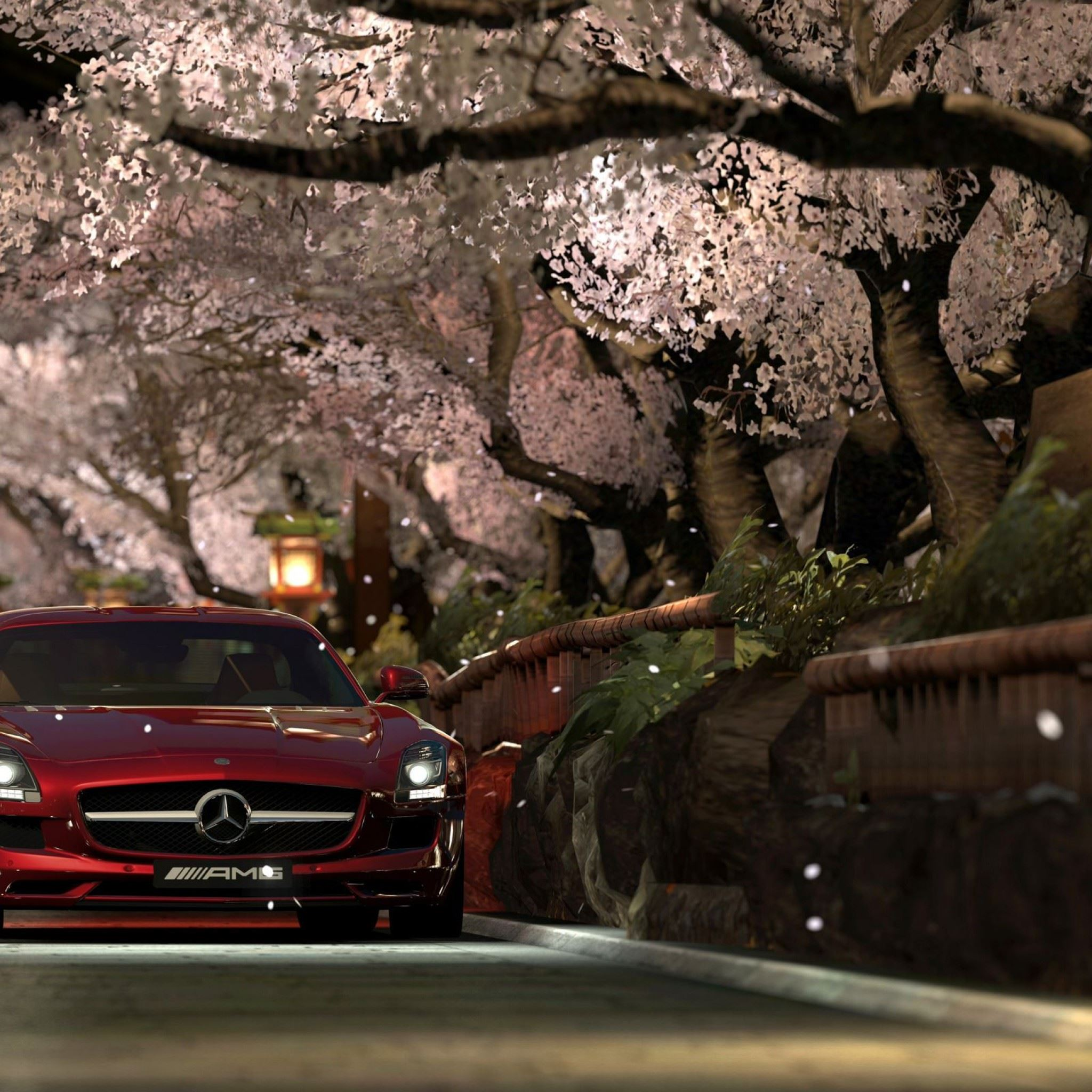 Mercedes Benz Sls Amg Red Night iPad Air wallpaper