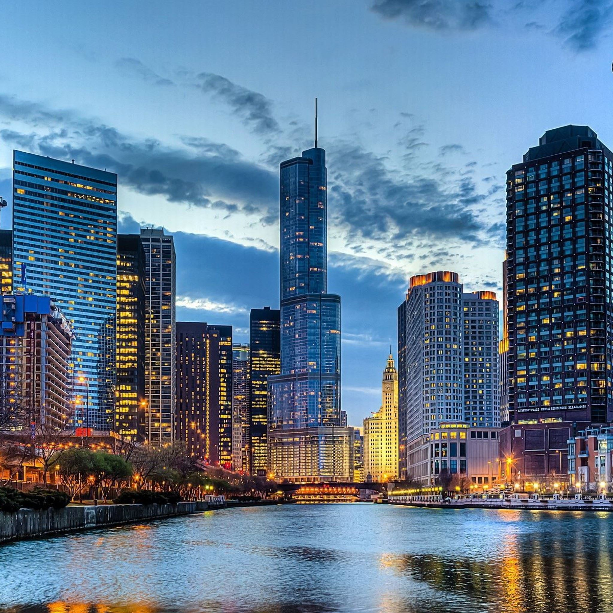 Chicago Illinois USA IPad Air Wallpapers Free Download