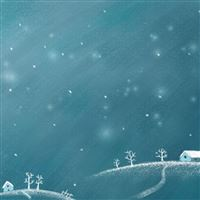 New Year Night Snow Winter Moon iPad wallpaper