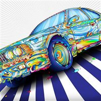 Rainbow BMW iPad Air wallpaper