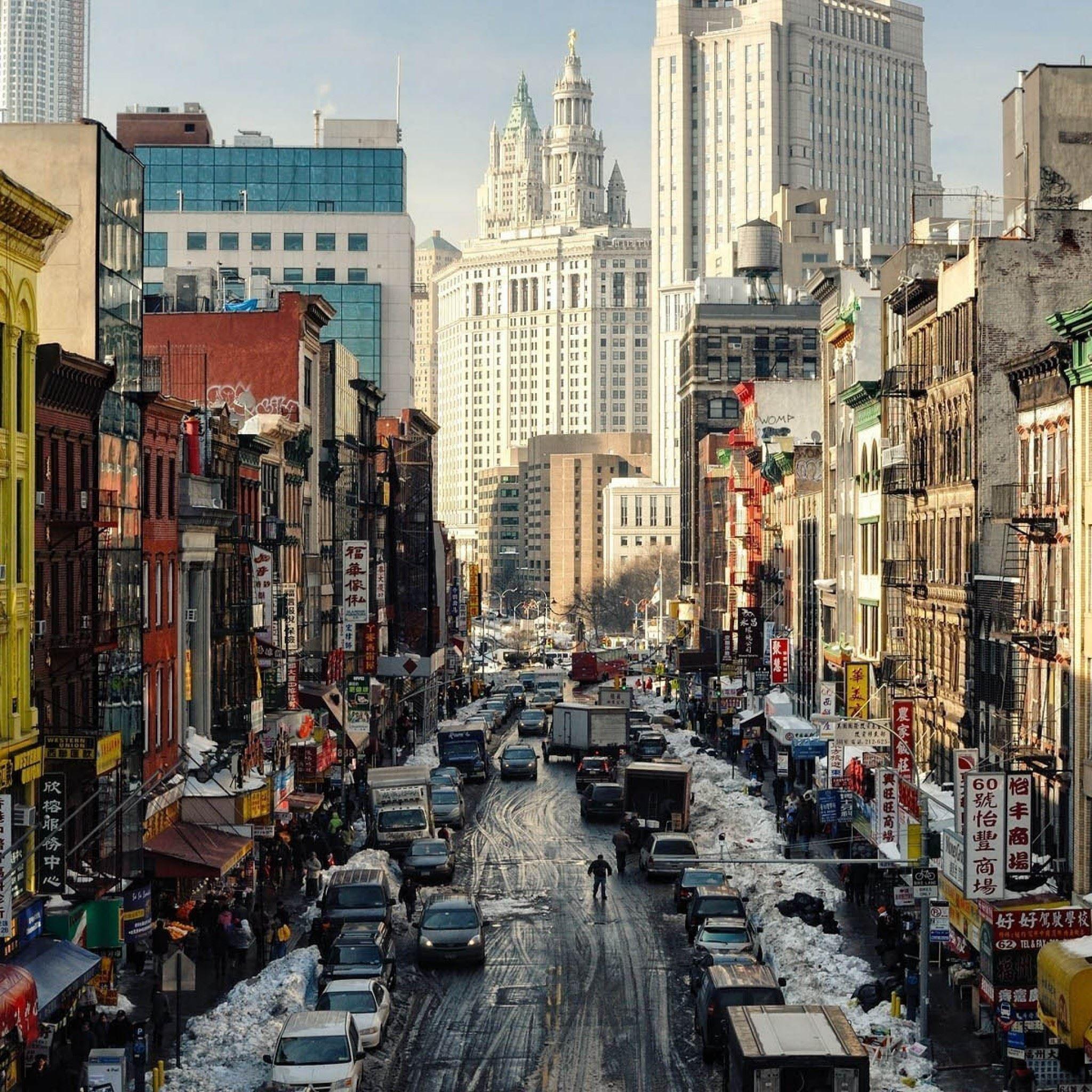 New York Street NY USA IPad Air Wallpaper Download