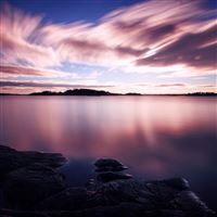 Dusk Long Exposure iPad Air wallpaper