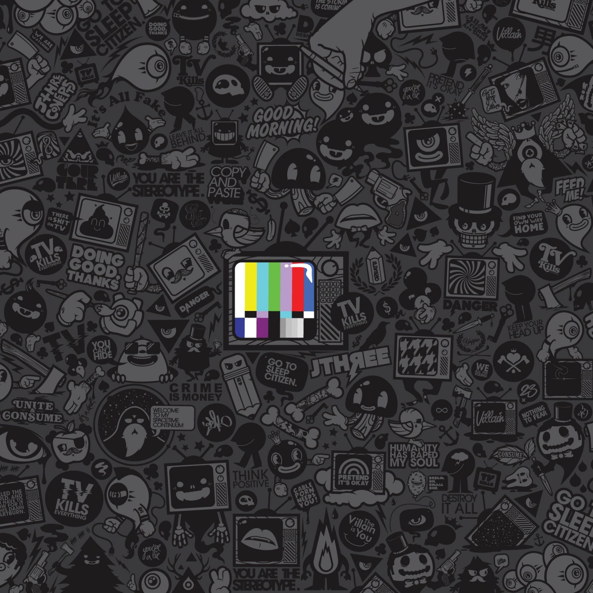 Tv Kills Everything iPad Air wallpaper