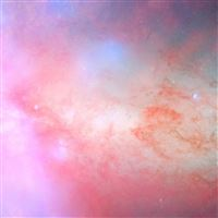 Blush Pink Nebula iPad Air wallpaper