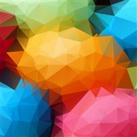 Polygon Balls iPad Air wallpaper