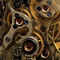 Golden Watch Gears iPad Air wallpaper