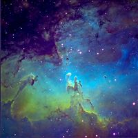 Fantasy Space Sky iPad wallpaper