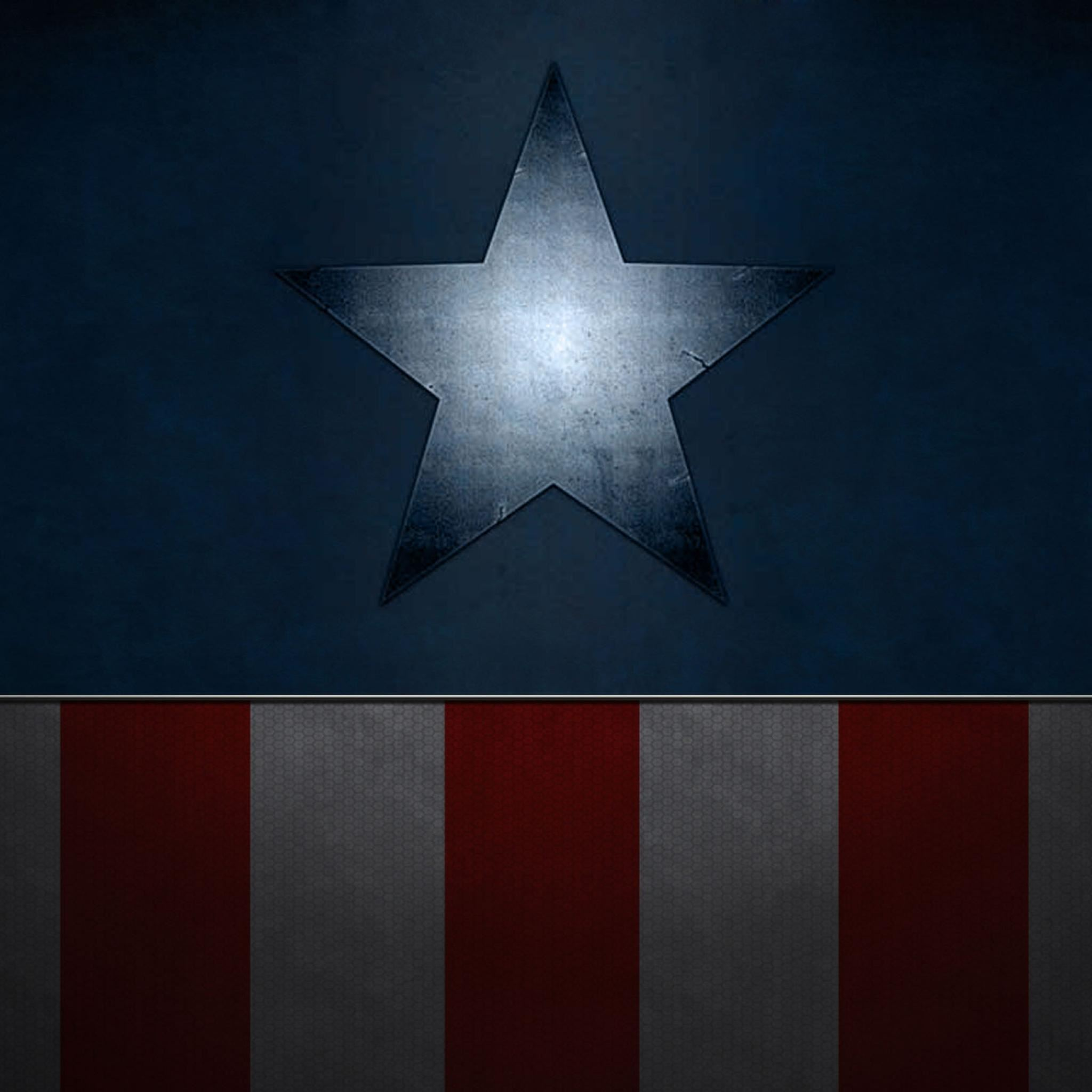 Captain America Abstract Texture iPad Air wallpaper
