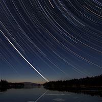 Meteor Over Acadia iPad Air wallpaper