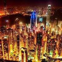 Night Light Cityscape iPad Air wallpaper