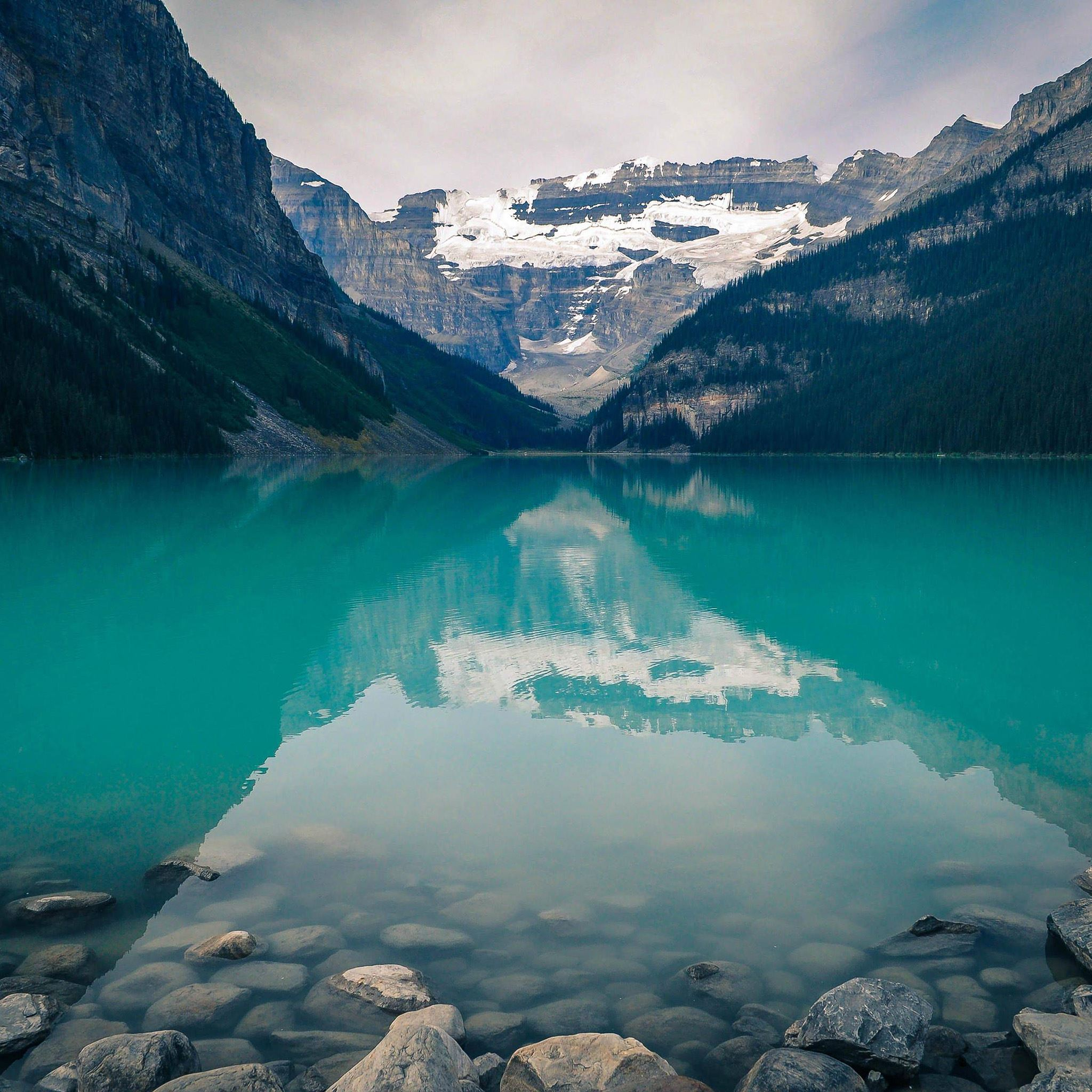 Canada Lake Louise Green Water Nature Ipad Air Wallpapers
