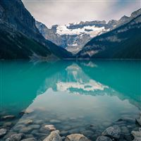 Canada Lake Louise Green Water Nature iPad Air wallpaper