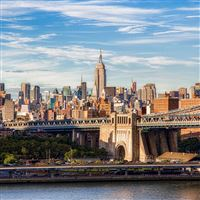 Brooklyn Bridge Manhattan iPad wallpaper