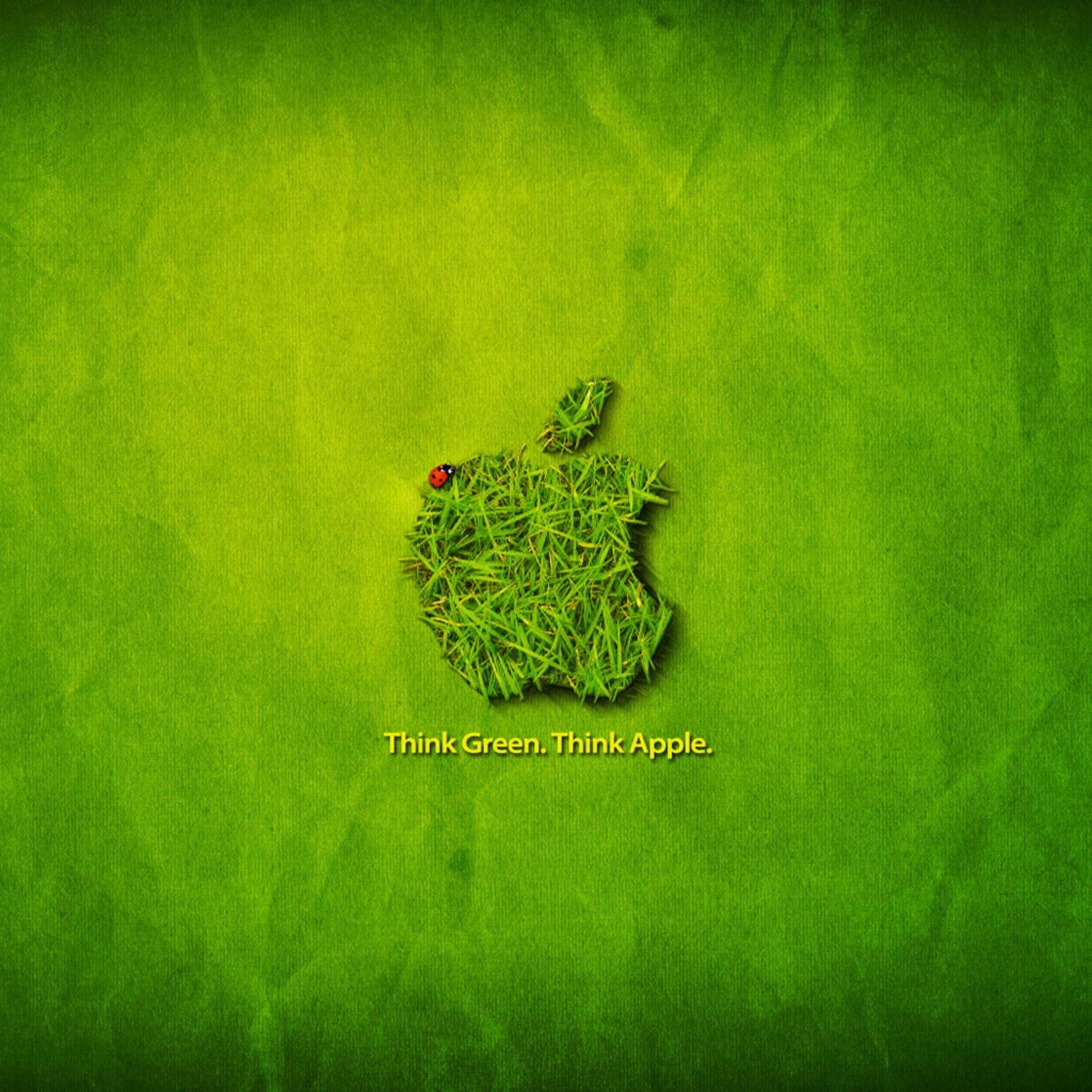 Think Green Think Apple iPad Air wallpaper