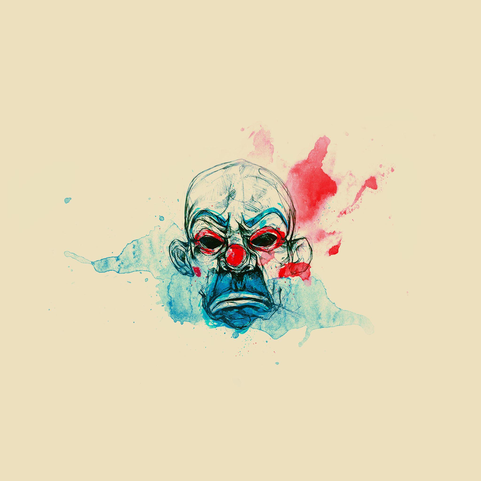 Joker Mask Wallpaper For Iphone