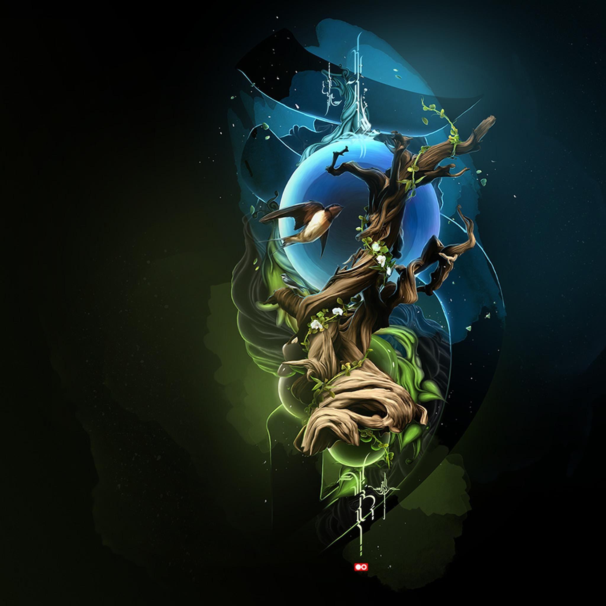Fantasy Tree Design Art IPad Air Wallpapers Free Download
