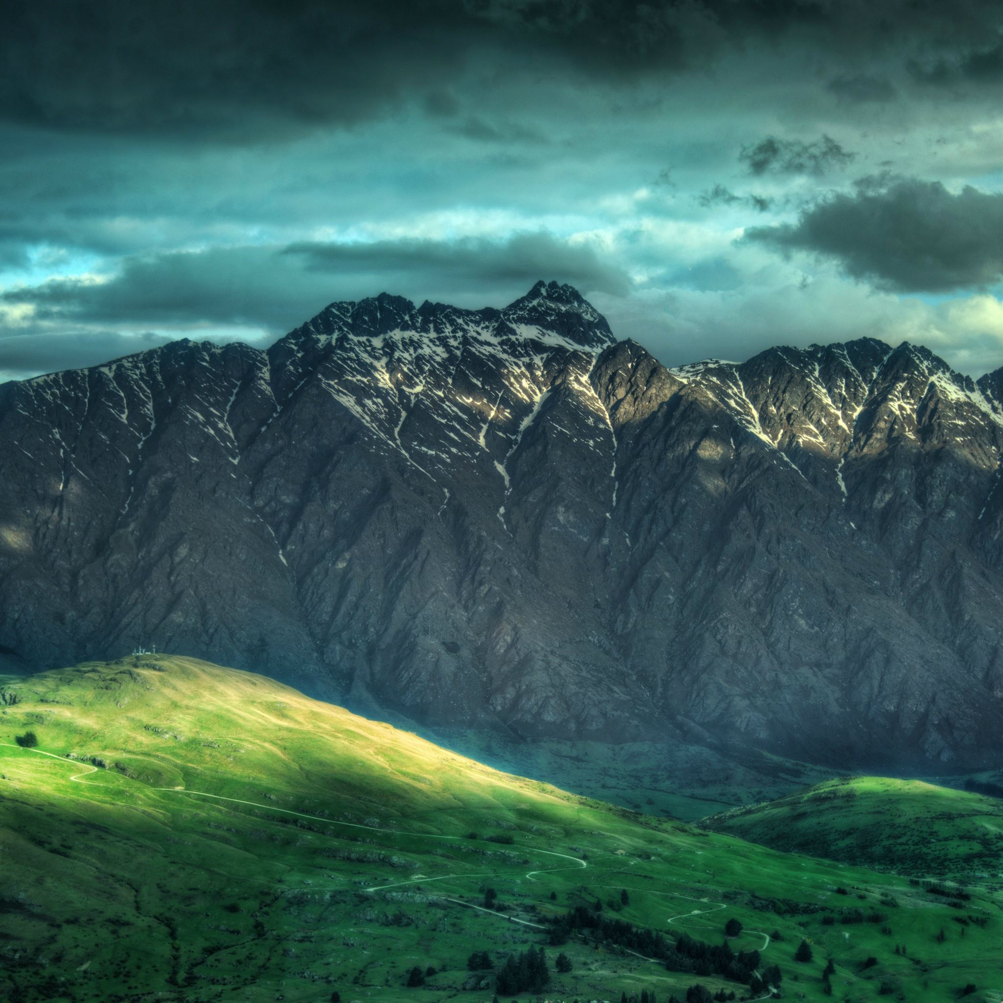 Mountains Landscape In New Zealand iPad Air wallpaper