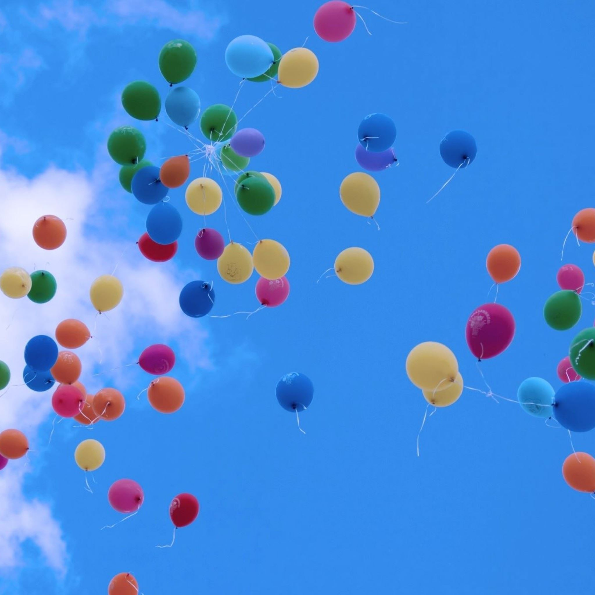 Colorful Balloons In The Sky iPad Air wallpaper