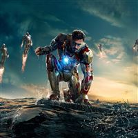 Iron Man 3 Water Fight iPad Air wallpaper