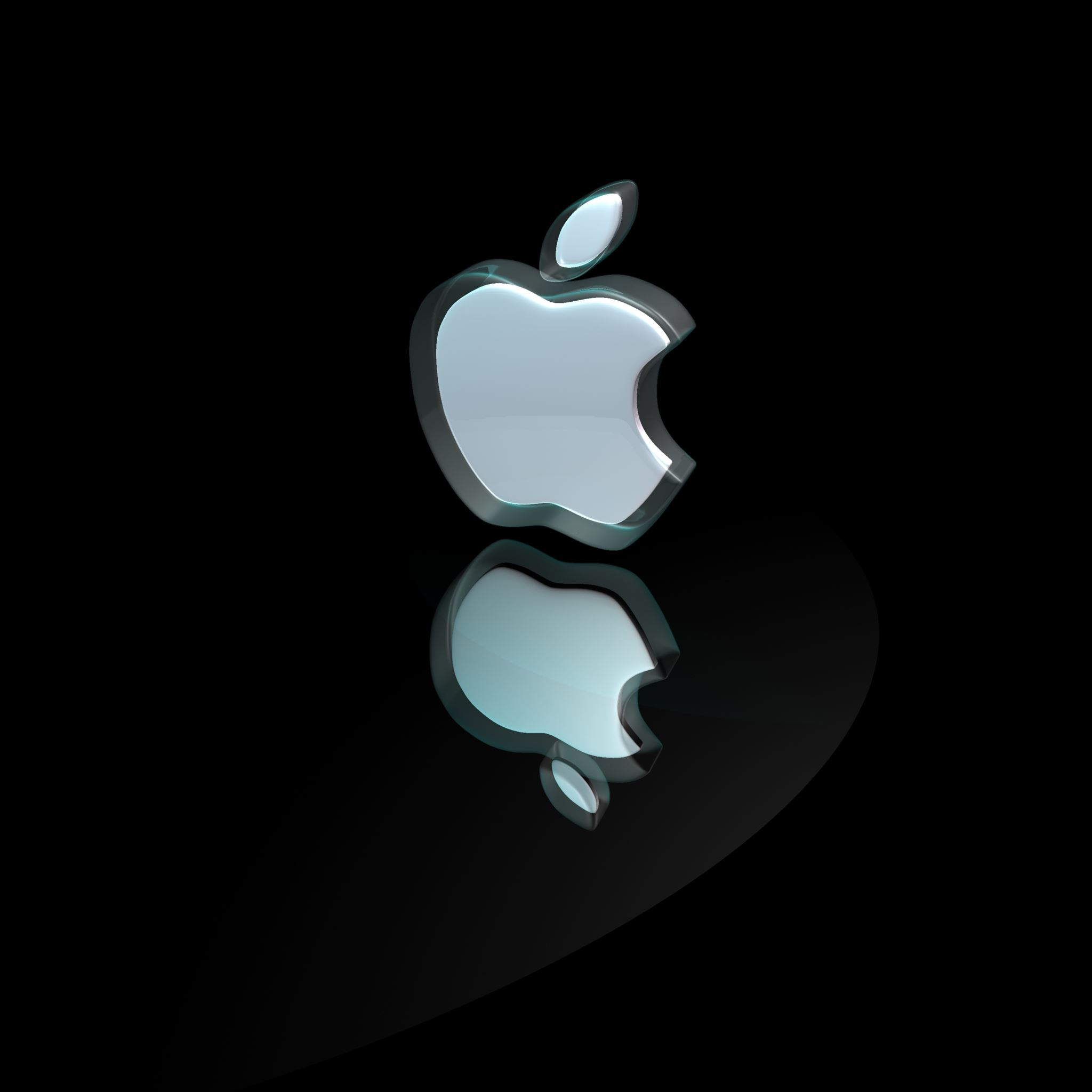3D Apple Logo ipad air wallpaper ilikewallpaper com