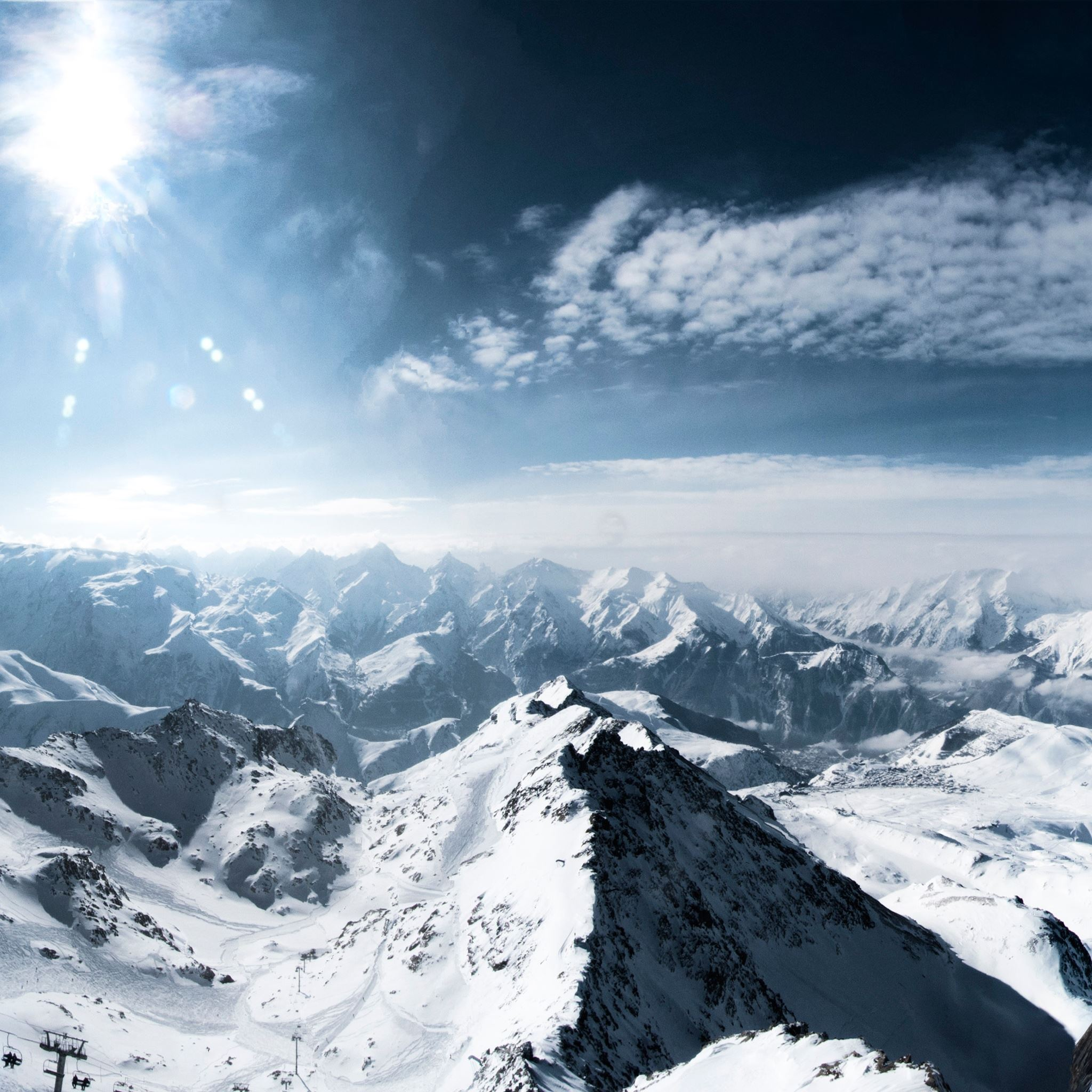 Over the Alps  iPad Air wallpaper