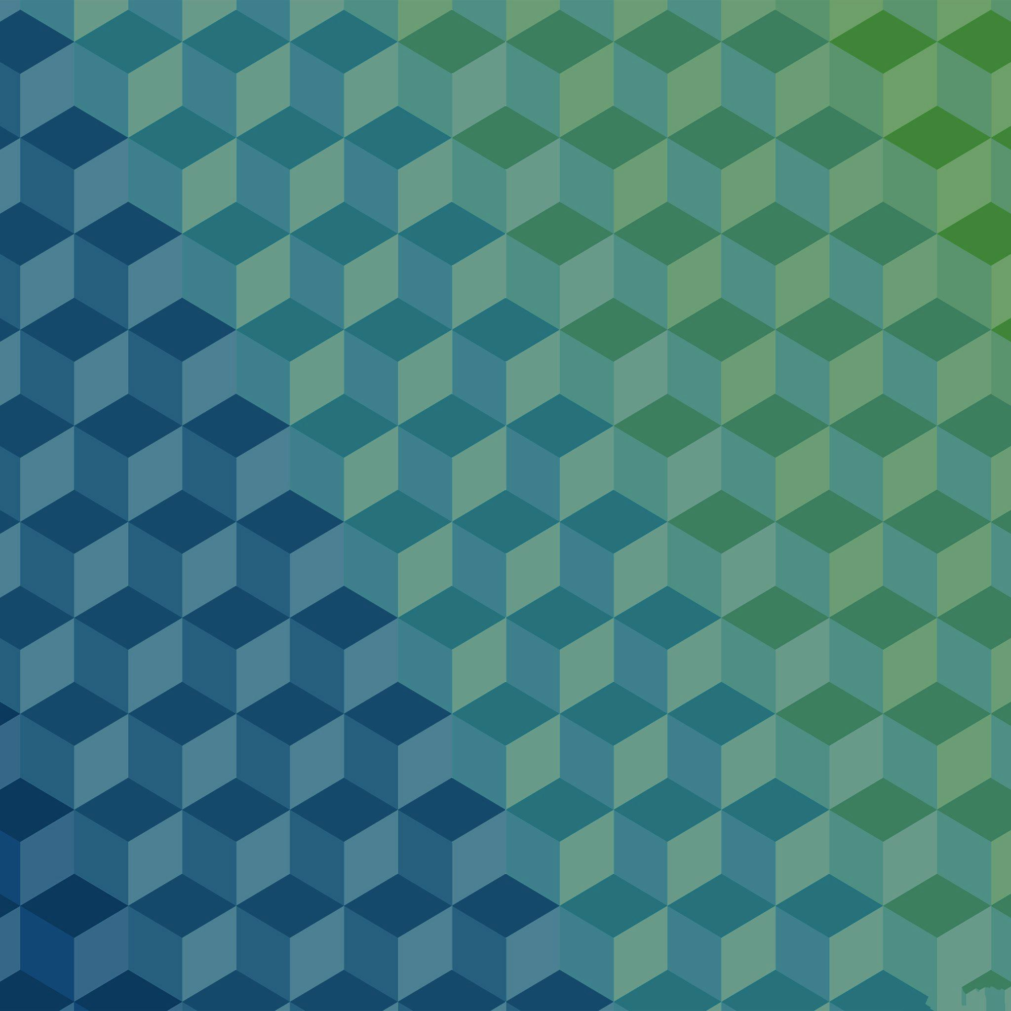 Polygon Blue Art Graphic Pattern IPad Air Wallpaper